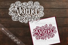 Mama Mothers Day card paper cut template svg dxf Product Image 1