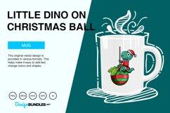 Little Dino on Christmas Ball Vector Illustration Product Image 4