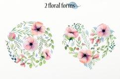 Watercolor floral design elements Product Image 4