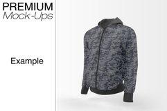Men's Full-Zip Hoodie Mockup Product Image 3