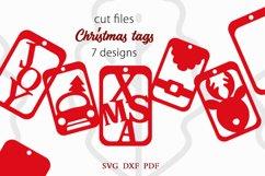 Christmas tags SVG Bundle, Christmas gift tags svg Product Image 1