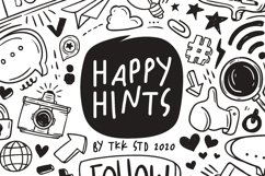 Happy Hints - Kids Doodle Handwriting Font Product Image 1