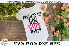 Meeting My Big Sister Today SVG Product Image 1