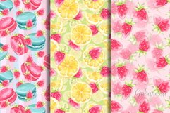Sweet set. 6 watercolor patterns Product Image 1