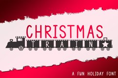 Christmas Train - A Fun Holiday Font Product Image 1