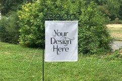 Yard Flag Mockup for Spring, A White Garden Flag Mock-Up Product Image 3