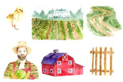 Watercolor clipart FARM life Product Image 4