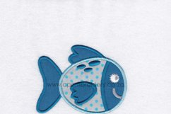Gold Spotted Fish Applique Machine Embroidery Design Product Image 2