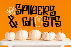 Spooky Dudes - A Scary Silly Halloween Font & Dingbat Duo! Product Image 2