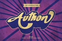 Authon - Retro Bold Font Product Image 1
