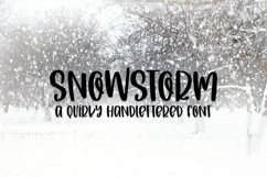 Web Font Snowstorm - A Quirky Hand-Lettered Font Product Image 1