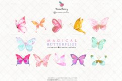 Magical Glitter Butterfly Clipart   Drawberry CP002 Product Image 2