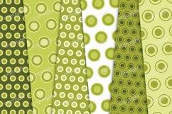 Green circles digital paper, polka dots scrapbook paper Product Image 2