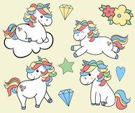 Unicorns clipart Product Image 2
