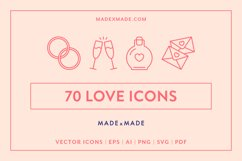 Line Icons - Love Product Image 1