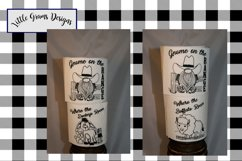 Cowboy Gnome Toilet Paper Embroidery Designs SET Product Image 1