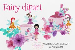 Watercolor fairy clipart for invitations, magical clipart Product Image 1