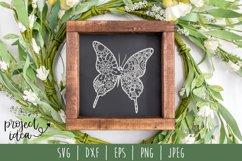 Butterfly Mandala Zentangle Bundle Set of 7 - SVG Product Image 4