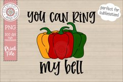 You Can Ring My Bell | Food Pun | Sublimation PNG Product Image 1