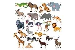 Cute Animals Cartoon Vector Set Product Image 1