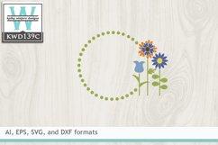 Gardening SVG - Gardening Monogram Frame Product Image 2