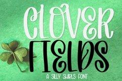 Web Font Clover Fields - A Lovely Hand Written Font Product Image 1