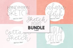 SKETCH FONT BUNDLE - 4 Single Line Fonts Product Image 1