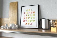 Fruit Alphabet Printable, Digital ABC Nursery Poster Product Image 2