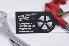 Tyre service business card template cutting file Product Image 2