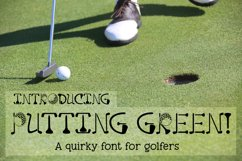 Putting Green - A Quirky Font for Golfers Product Image 1
