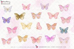 Digital Glitter Butterfly Clipart Product Image 2