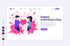 Valentine's Day concept flat Illustration landing page Product Image 1
