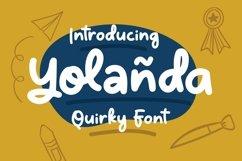 Web Font Yolanda - Quirky Font Product Image 1
