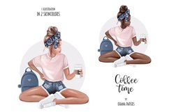 Coffee Fashion Girl Clipart, Planner Graphics Supplies Product Image 3