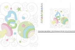 Baby Quilt Block 1 in 3 sizes Product Image 3