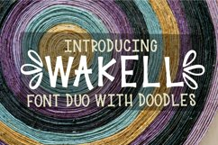 Wakell - Font Duo With Ornament Font Product Image 1