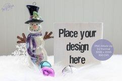 Christmas White Wood shelf sitter Mock Up Product Image 1