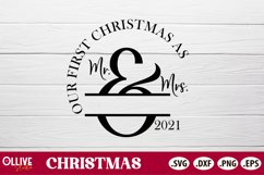Our First Christmas SVG   Couple Christmas Ornament SVG Product Image 2