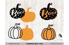 Pumpkin SVG Bundle Halloween Polka Dot Pumpkin Boo Svg Product Image 2