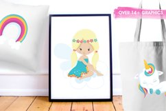 Baby Unicorn graphics and illustrations Product Image 5