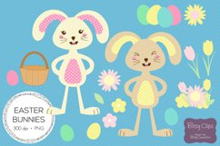 Easter Bunny Illustrations Commercial Use Clipart Product Image 1