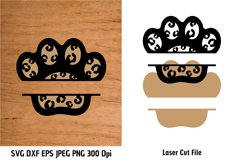 Animal Print Paw SVG| Pet Paw cutting files| Paw Print SVG Product Image 2