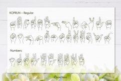 Koprun - American Sign Language Font Product Image 4