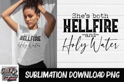 Sublimation designs for tshirts-hellfire and holy water-PNG Product Image 1