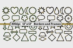 6 Sets x 22 Borders/Frames - Hearts and Tartans and a Floral Product Image 4