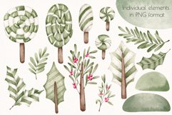 """Watercolor ClipArt """"Sweet greenery"""" Product Image 2"""