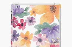 Watercolor flowers seamless pattern Colorful flowers clipart Product Image 13