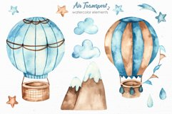 Air transport 2. Watercolor clipart Product Image 7