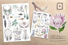 BOHO FLOWERS watercolor set Product Image 2
