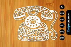 Classic Telephone Papercut Product Image 1